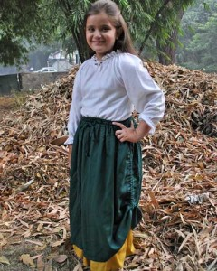 Girls Lettice Double-Layer Skirt