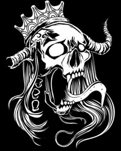 Skull with Crown T-shirt (Black)