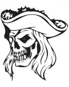 Captain Pirate Skull T-shirt (White)