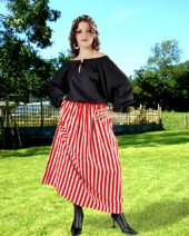 Edith Striped Skirt