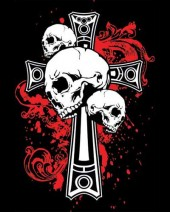 Skulls on Cross T-shirt (Black)