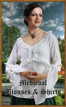 Womens Medieval Blouse